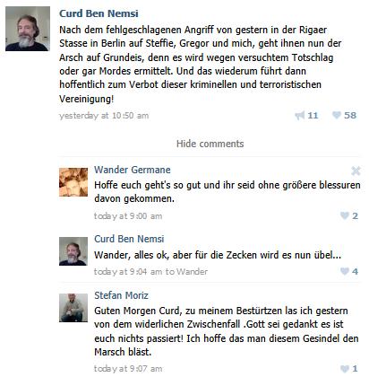 AntiFa Mordversuch auf Curd Schumacher Stephanie Schulz und Gregor0