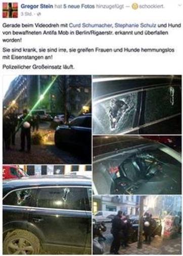 AntiFa Mordversuch auf Curd Schumacher Stephanie Schulz und Gregor1