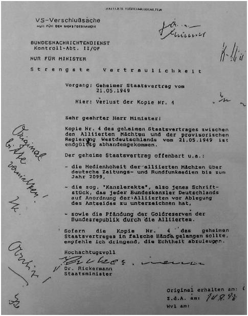 Egon Bahr bestätigt Kanzlerakte zum GG 1949