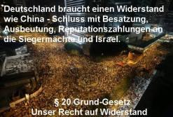 Schluß mit Zahlungen Deutschlands