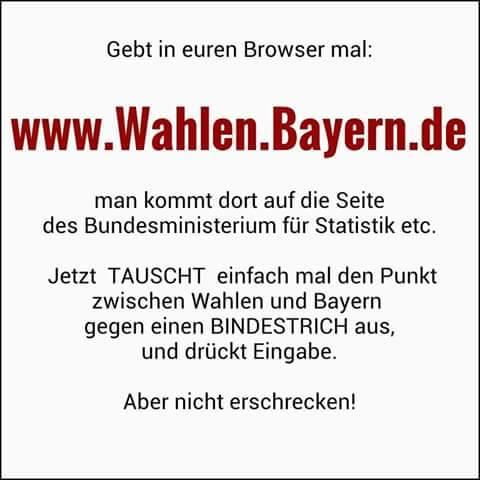 Wahlen Bayern Fake