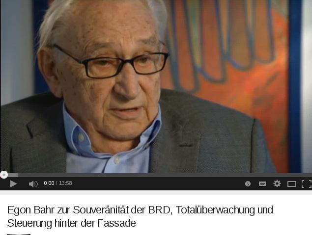 Egon Bahr zur Souveränität der BRD