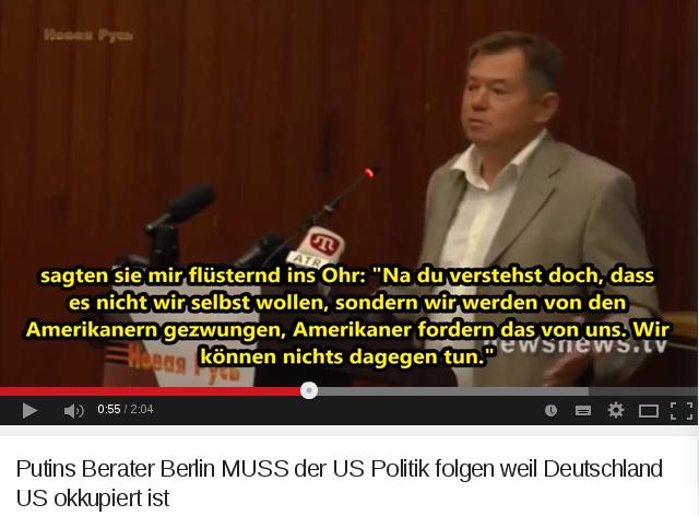 Putins Berater Berlin MUSS der US Politik folgen