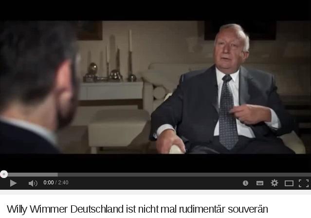 Willy Wimmer Deutschland ist nicht mal rudimäntär souverän