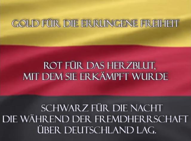 Befreite Deutschland Flagge