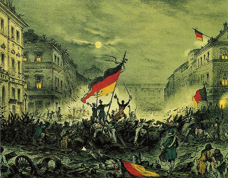Deutsche Revolution im Maerz 1848 in Berlin