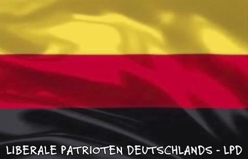 Liberale Patrioten Befreite Deutschland Flagge