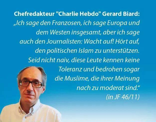 Chefredakteur Charlie Hebdo Gerard Biard