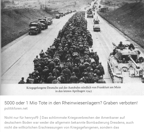 Eine Million Tote in den Rheinwiesenlagern