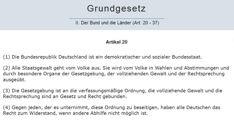 Grundgesetz Artikel 20