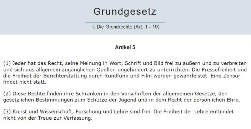 Grundgesetz Artikel 5