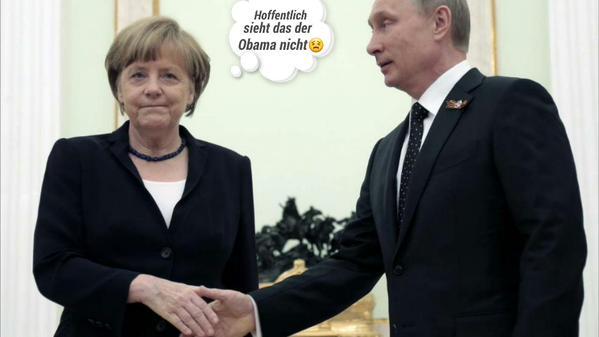 Hoffentlich sieht das Obama nicht