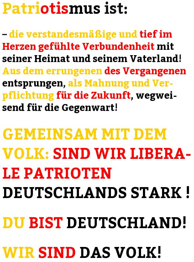 liberaler -freiheitlicher- deutscher Patriotismus LDP