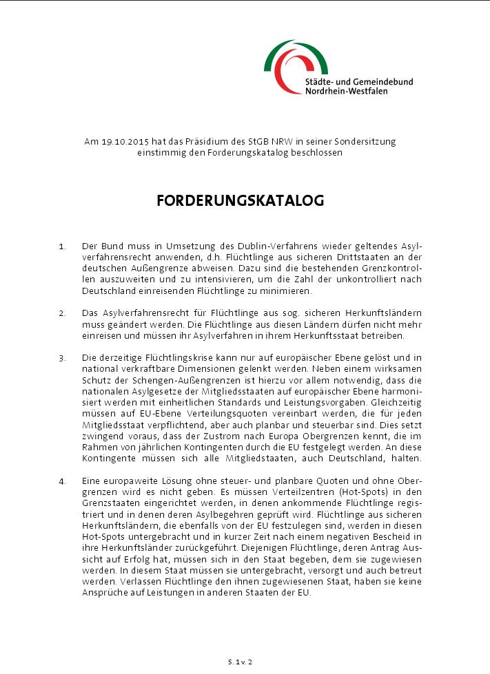Fluechtlingskrise Forderungskatalog Anlage1