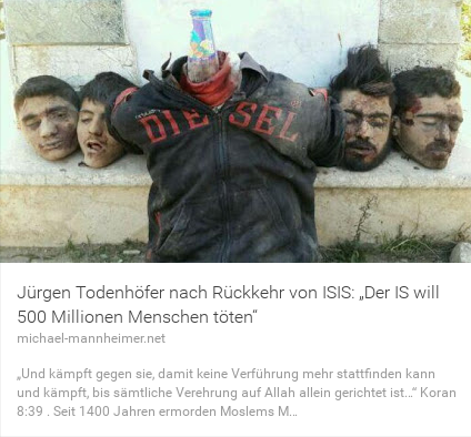 Jürgen Todenhöffer IS will 500 Millionen Menschen töten
