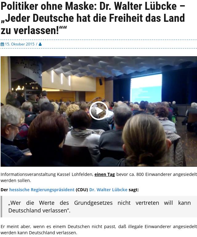Jeder Deutsche hat die Freiheit das Land zu verlassen