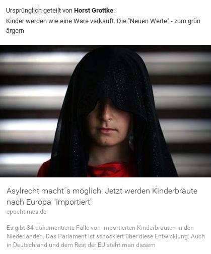 Kinderbräute werden nachgeholt