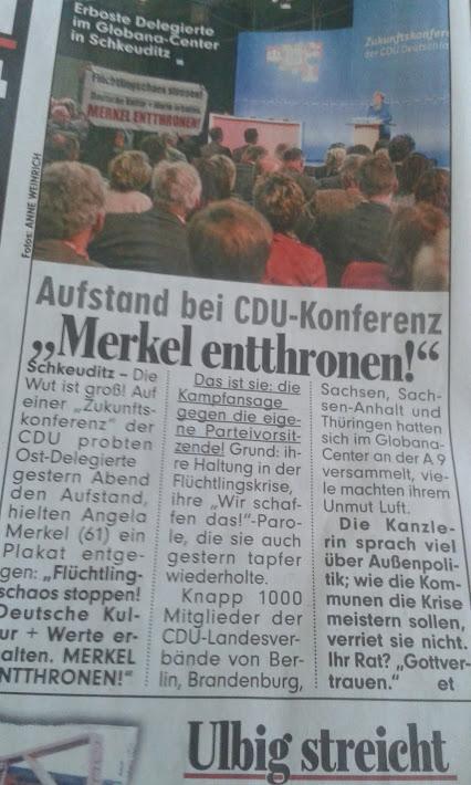 Merkel entthronen