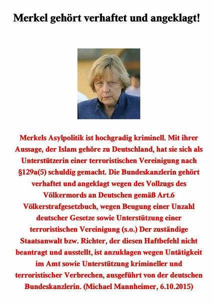 Merkel ist kriminel