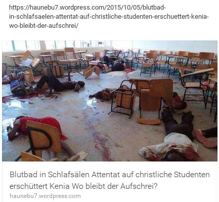 Moslemattentat auf christliche Studenten