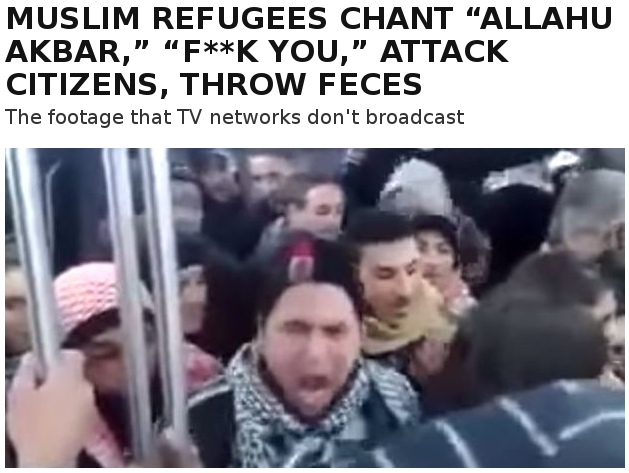 Refugees call Fuck you Christians