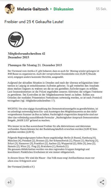 AntiFa e.V. Mitgliederrundschreiben 42