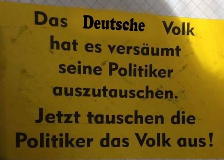 Austausch des deutschen Volkes