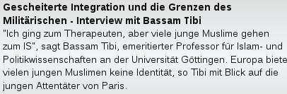 Bassam Tibi Keine Identitaet