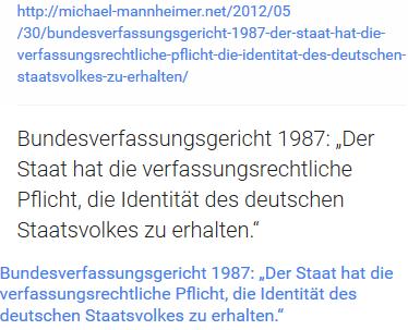 Die BRD hat die Pflicht die Identität der Deutschen zu erhalten