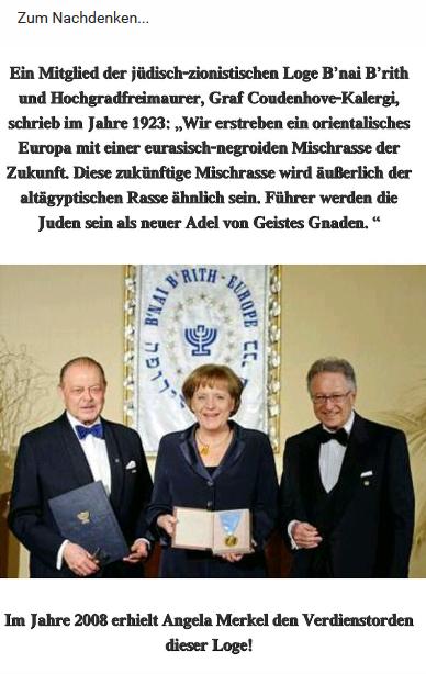 Zionistischer Verdienstorden für Merkel