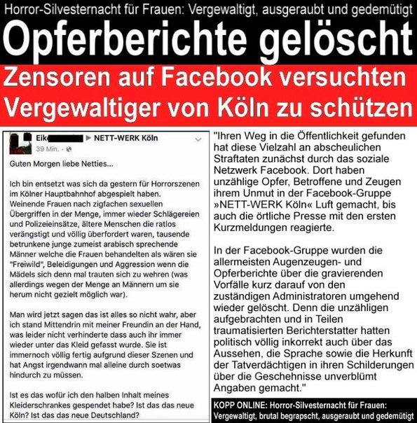 Vergewaltiger von Köln werden geschützt