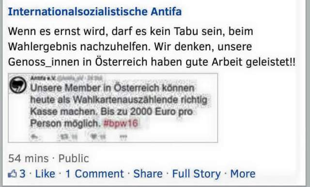 AntiFa Wahlbetrug