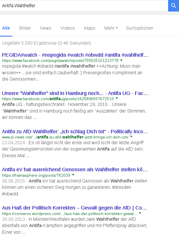 Antifa Wahlhelfer Google Suche