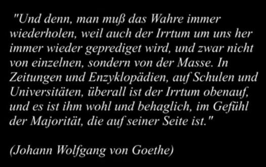Das Wahre von J. W. v. Goethe
