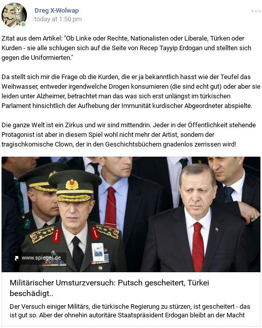 Erdogans Fake Putsch wie gewollt gescheitert
