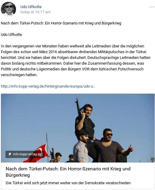 Erdogans gewollter Putschversuch