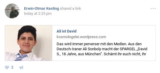 Masaker Ali ist jetzt David
