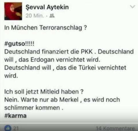 Türkin feiert Anschlag von München