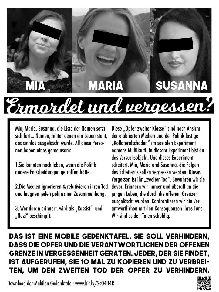Gedenken an Merkels Opfer !!!