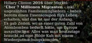 Hillary Clinton 2016 ueber Merkel